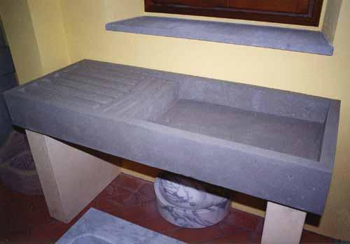 A. Nannini - Fiesole - Lavorazione pietre e marmi: Lavello